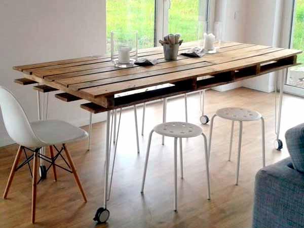 Мебель из поддонов своими руками, поддон стол