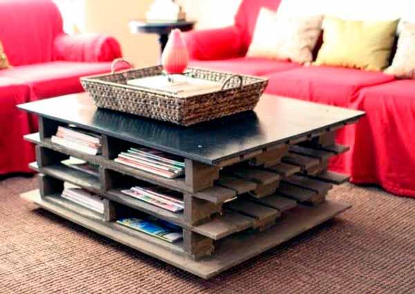 Мебель из поддонов своими руками, поддон журнальный стол