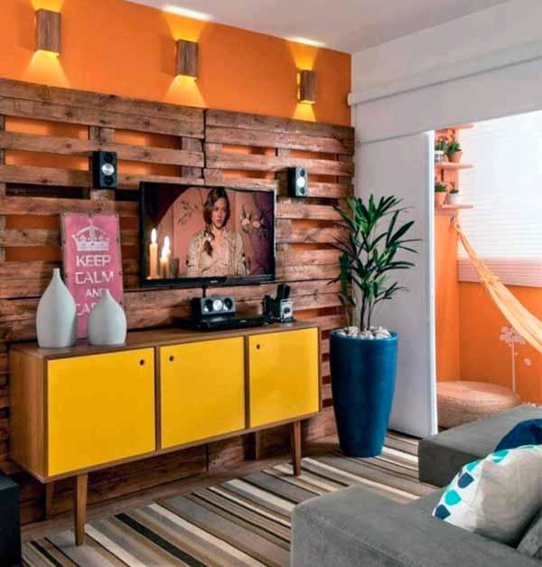 Мебель из поддонов своими руками, стеновые панели