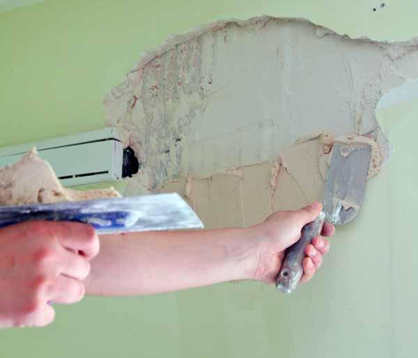 Трещины в штукатурке, трещины в стене, как заделать трещины своими руками